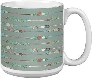Tree-Free Greetings Extra Large 20-Ounce Jumbo Ceramic Coffee Mug Cup, Organic Earth Tones Themed Shell Rummel Art - Gift ...