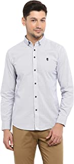 Red Tape Men's Printed Regular fit Casual Shirt (RSF8995A_Arrow White L)