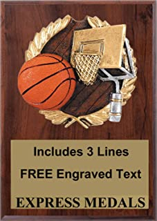 Express Medals Basketball Plaque Trophy Award