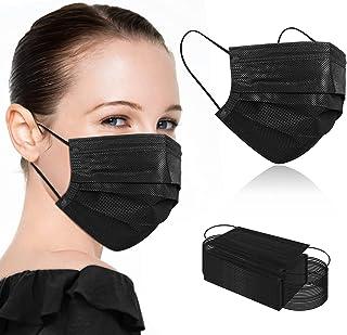 ماسک صورت یکبار مصرف مشکی ، ماسک صورت یکبار مصرف تنفسی 3 لایه برای بزرگسالان