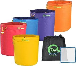 iPower Glbbag5X5 5-Gallon 5 Herbal Ice Bubble Hash Bag Essene Extractor Kit, 5-Pack
