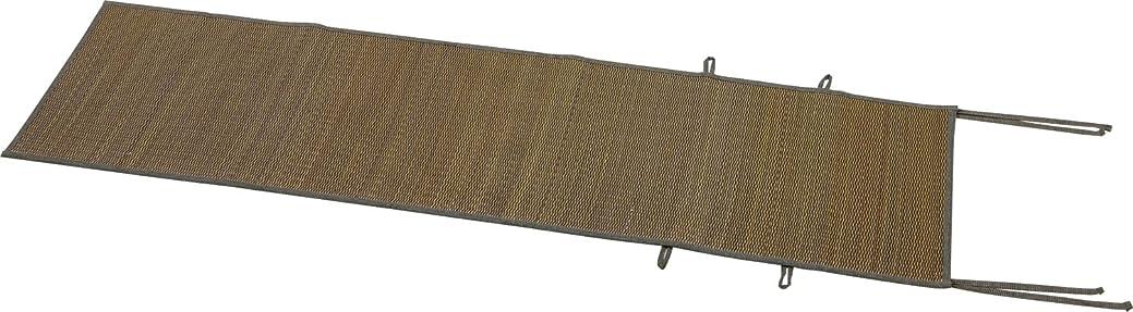 スピーカー政治家移動する大島屋 座椅子カバー イ草 座椅子カバー 与那国 い草 ブラウン  約44×160cm
