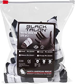North American Rescue 70-0003 Large Black Medical Talon Gloves (50 Pairs)