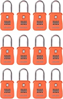 Lion Locks 1500 Key Storage Realtor Lock Box with Set-Your-Own Combination, (12 Pack , Orange)