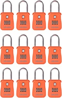 Lion Locks 1500 Key Storage Realtor Lock Box with Set-Your-Own Combination, (12 Pack , Orange)