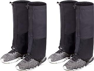 2 جفت گتر کفش برفی گتر ساق پا ضد پارگی ضد آب گتر ساق بلند برای مردان خانم کفش برفی در فضای باز ، پیاده روی ، شکار ، یخ نوردی ، اسکی