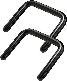 2pc Black PVD Septum Retainer 16g U-Shaped Piercing Ring 16 Gauge Staple Shape Body Jewelry