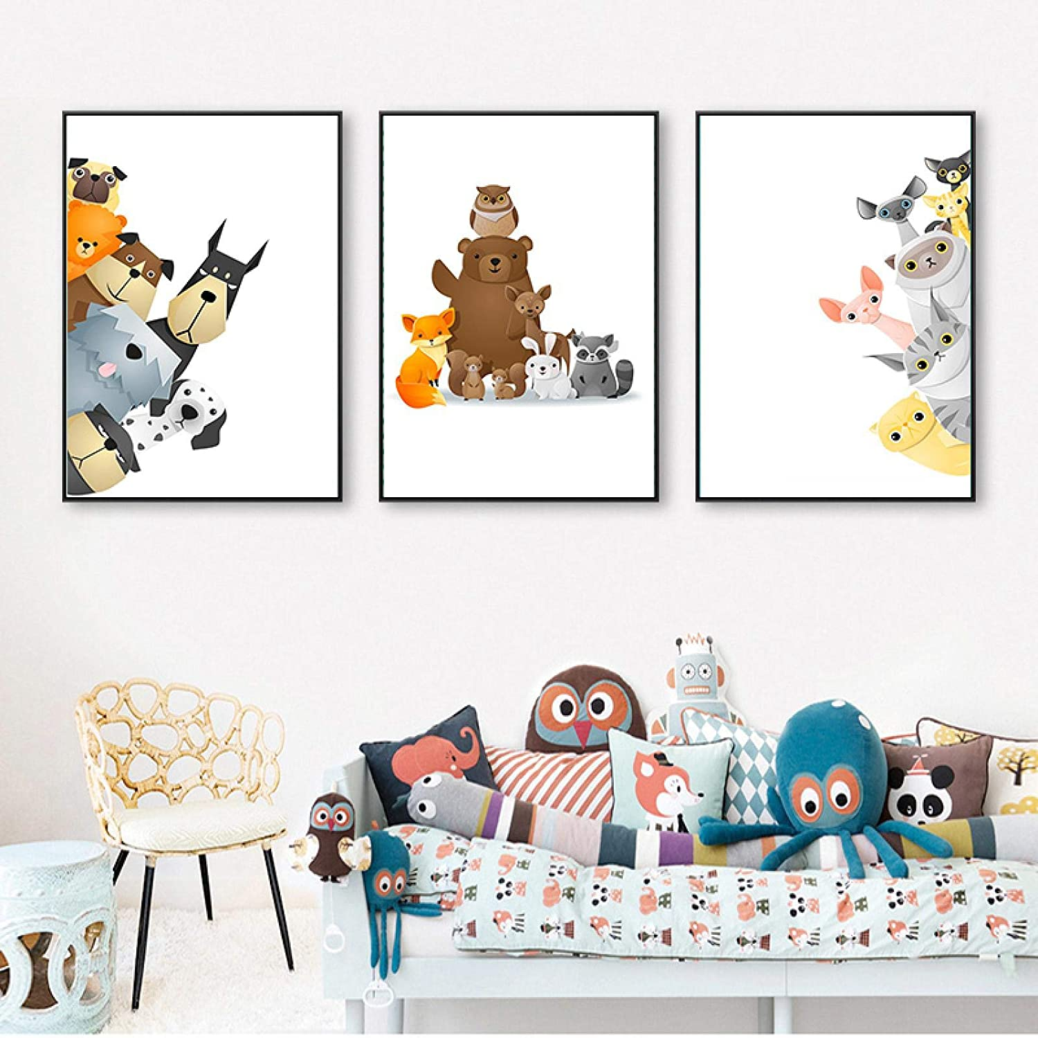 Sunsightly Print on Canvas Cute Poste Pets Bears Large-scale Super special price sale Animals Puppies