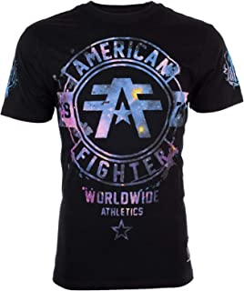 Men T-Shirt Silver Lake Galaxy Athletic Black Biker Gym UFC