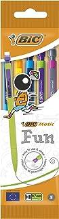 BIC Matic Fun 0.7 Mm Hb Mechanical Pencils Assorted Barrel Colours, Pack of 5