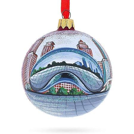 Christmas idea Ornament Chicago Harbour At Sunrise Acrylic Block