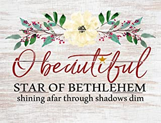 Rustic Pallet Art Beautiful Star of Bethlehem - Amish Made in The USA