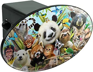 Graphics and More Polar Bear Mom with Cubs Family Oval Tow Trailer Hitch Cover Plug Insert
