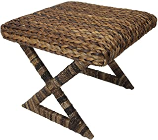 BIRDROCK HOME Seagrass Stool - Cushioned top