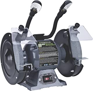 Genesis GBG800L Bench Grinder with Dual Light, 8