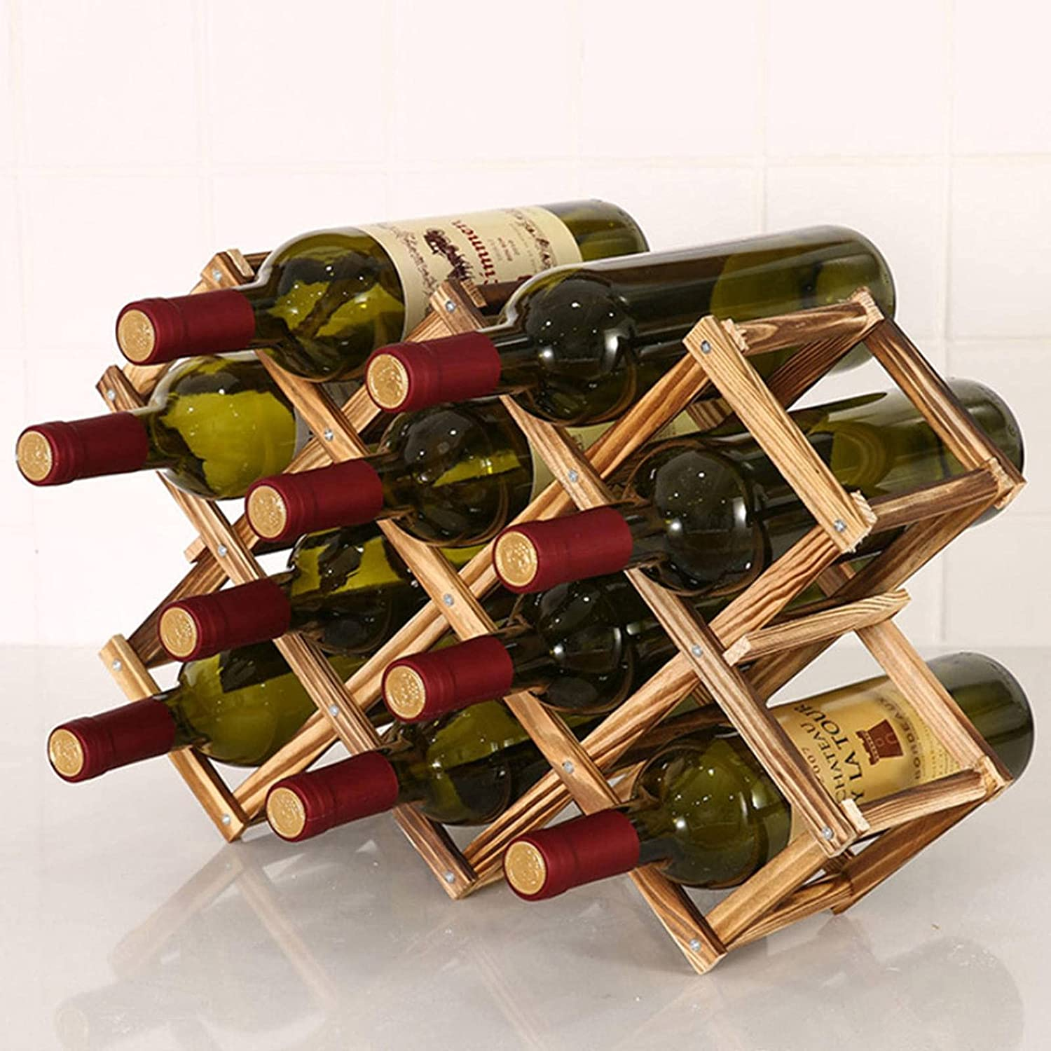 N\C Free Shipping New Wooden Wine SALENEW very popular Bottle Rack Practical Foldable and L Creative