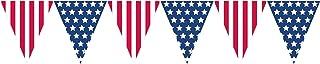amscan 120057 USA Pennant Banner-1 Pc, Multicoloured