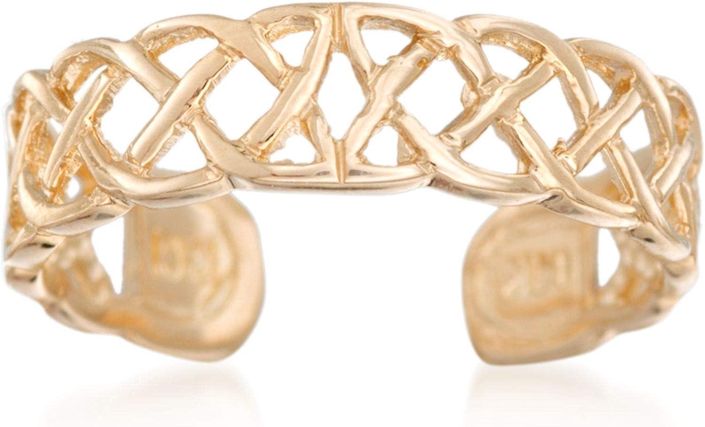 overseas Ross-Simons 14kt Cheap bargain Yellow Gold Ring Celtic Knot Toe