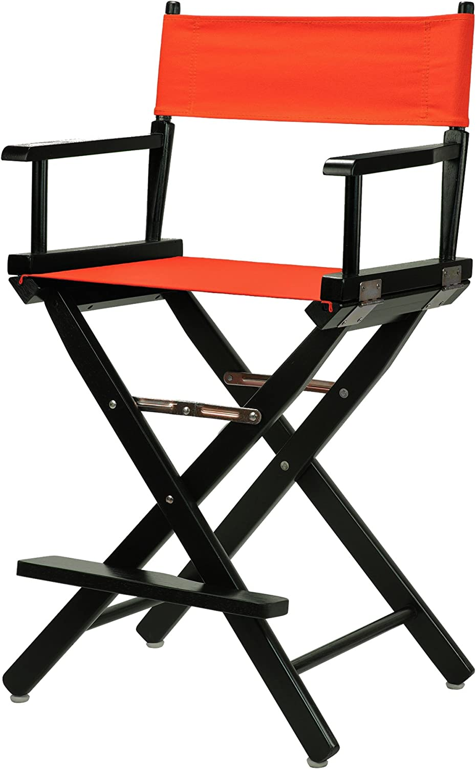 Casual Home 24-Inch Director Chair Black Frame, orange Canvas