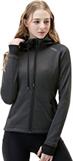 TSLA Women's Yoga Lightweight Active Performance Running Track Full-Zip Jacket