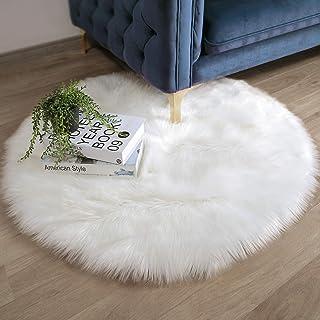 Chunky Non Slip Fluffy Mats Floor Round Circle Small Rug Living Room Soft Carpe
