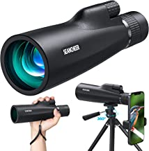 SEANCHEER 10-30x50 HD Monocular Telescope, High Power Magnification Monocular for Adults with Smartphone Holder, Rotatable...