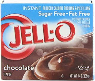 JELL-O Chocolate Instant Sugar Free Pudding & Pie Filling Mix (1.4 oz Boxes, Pack of 24)