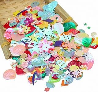 20 Gram Loose Sequins Assorted Shapes Color Sizes Spangles for Embellishment Arts Crafts DIY Supplies