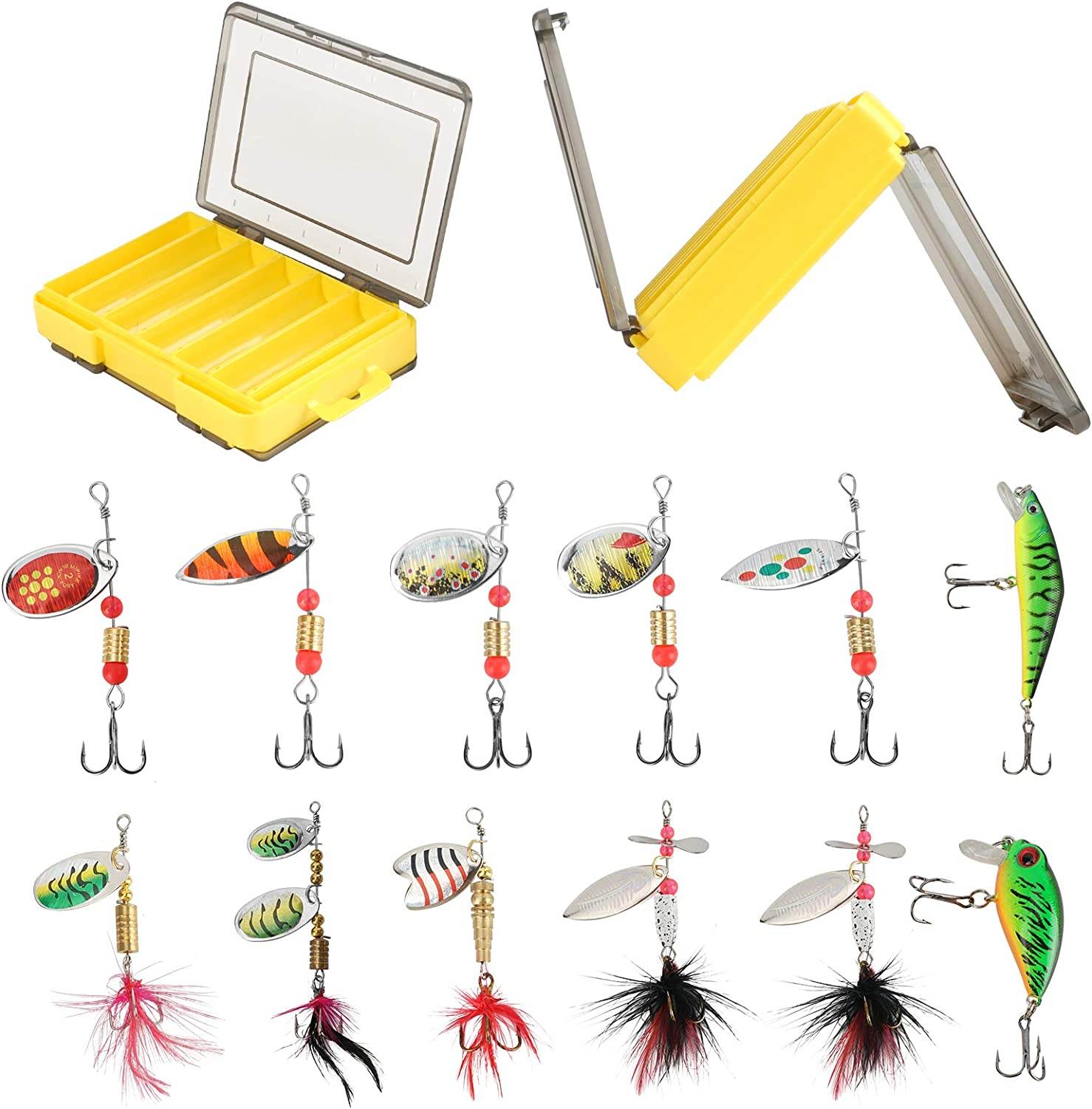 12PCS Fishing Lures Spinner Baits Super Special SALE held Las Vegas Mall Bass Salmon for Walleye Trout