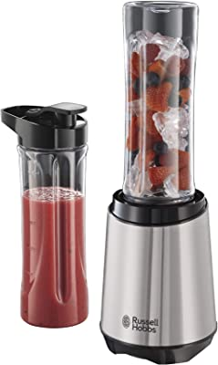 Russell Hobbs RHBL300, Mix and Go Stainless Steel Blender, 300 Watt Electric Motor and Dishwasher Safe, Silver/Black