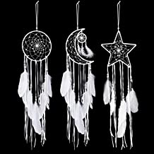 Extra big blue 80cm Long Feather Dream Catcher Wall Hanging gift 27cm Web