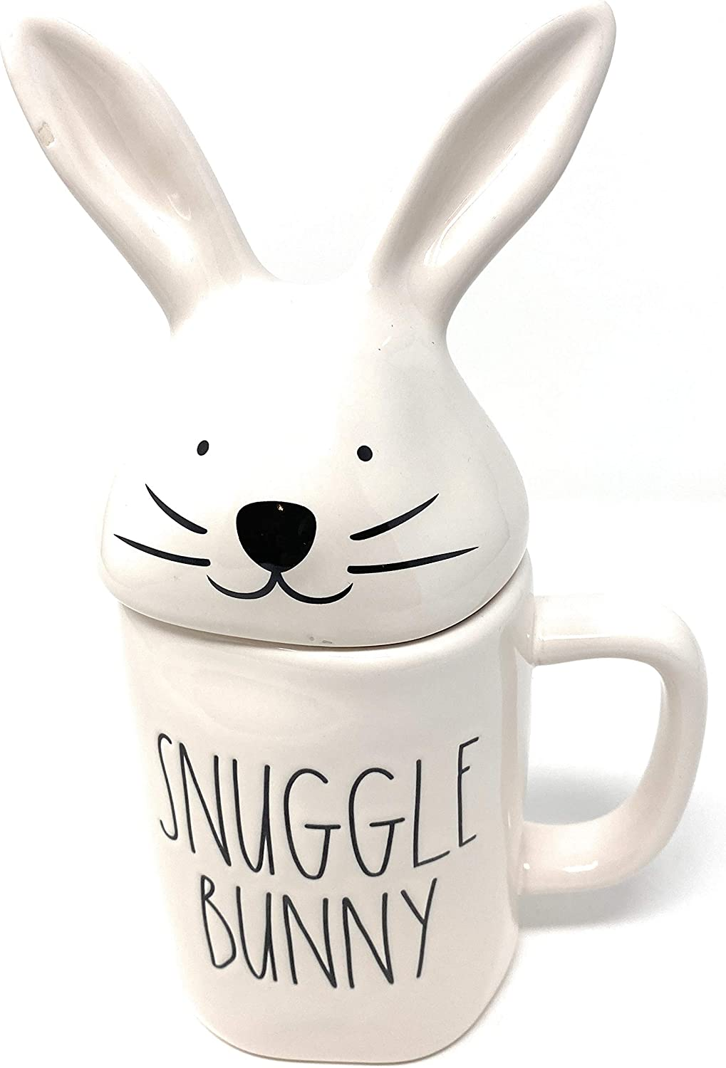 Rae Dunn Our shop most Challenge the lowest price popular SNUGGLE BUNNY with Mug Lid