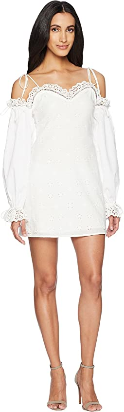 For Love and Lemons Vera Eyelet Mini Dress