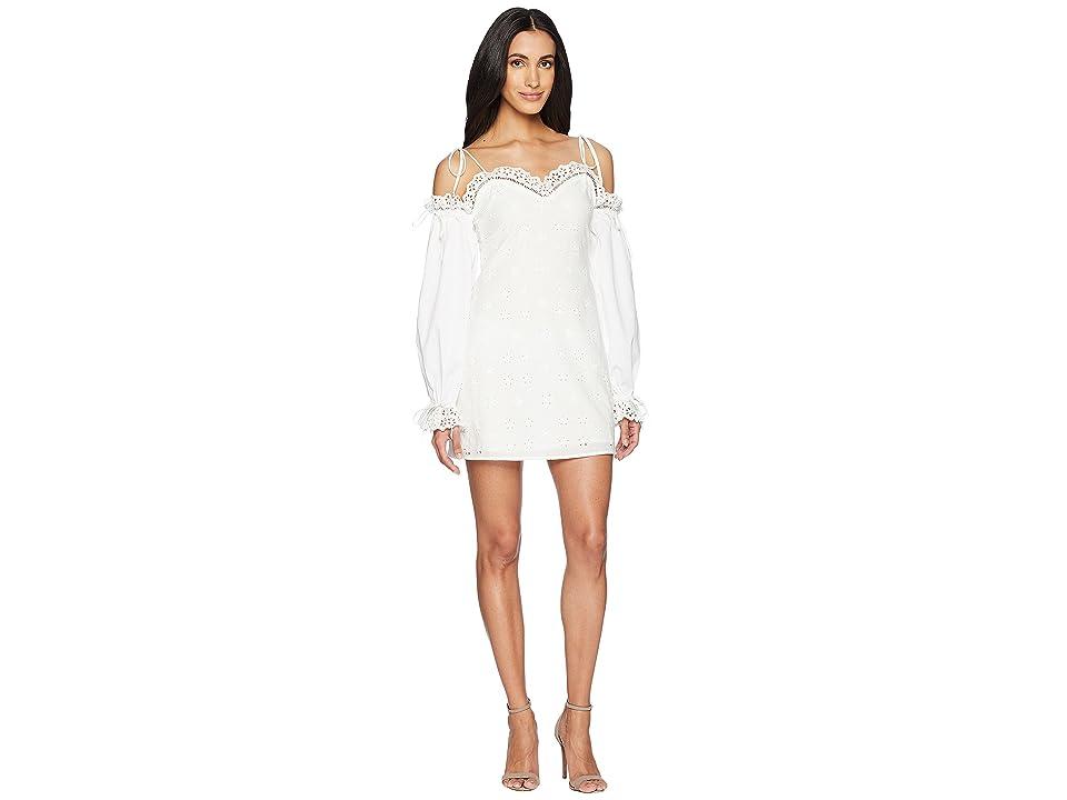 For Love and Lemons Vera Eyelet Mini Dress (White) Women