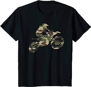 Kids Motocross Dirt Bike Riding Racing Camo Camouflage Braap Gift T-Shirt