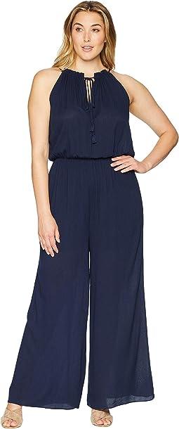 Plus Size Diana High-Neck Jumpsuit