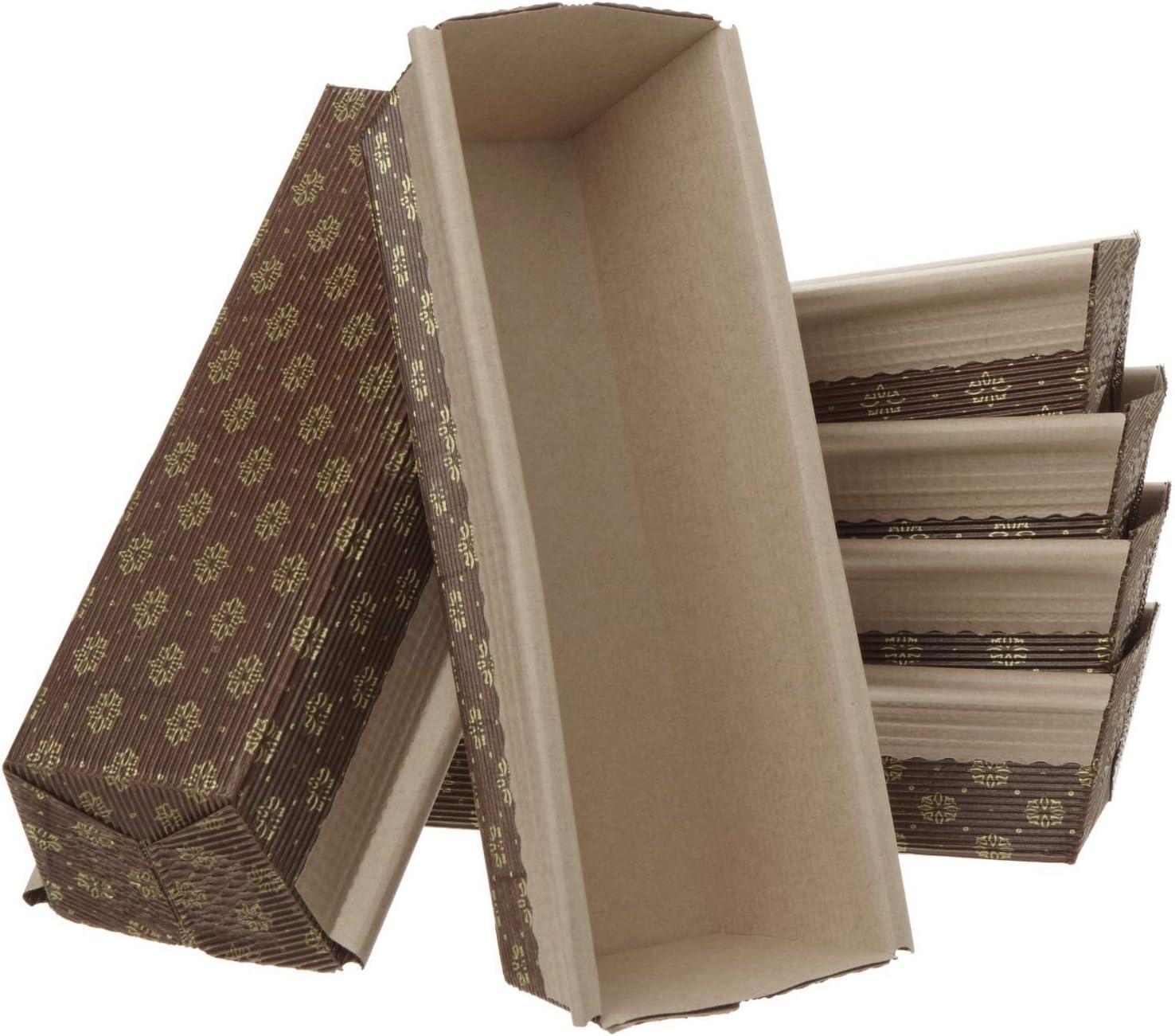 25, 7.75 x 2.5 x 1.8 Medium Loaf Pan 25pk Italian Paper Bakers