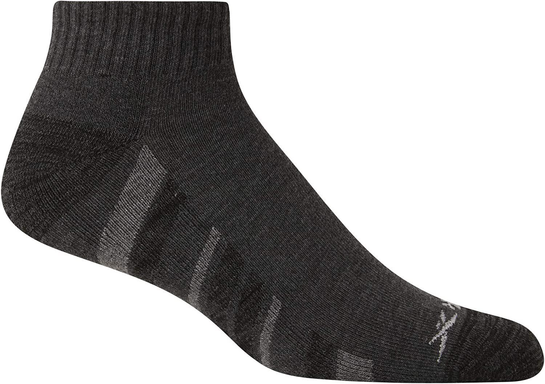 Rebook Men's Athletic Quarter Socks with Cushion Comfort (12 Pack)