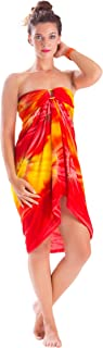 1 World Sarongs Women's Tie Dye Swimsuit Cover Up Sarong Jungle