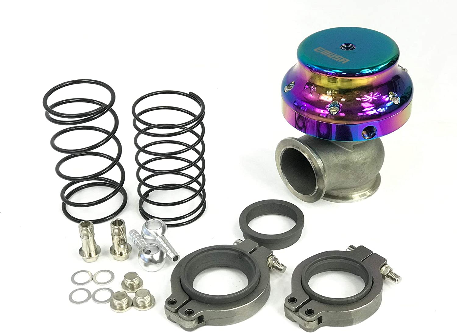 EMUSA 38mm V Band Turbo NEW before selling ☆ Springs Wastegate ! Super beauty product restock quality top! Adjustable Actuator V6