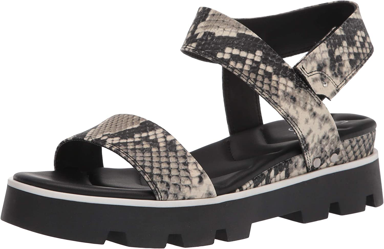Franco Sarto Women's Over item handling ☆ Year-end annual account Umber Sandal