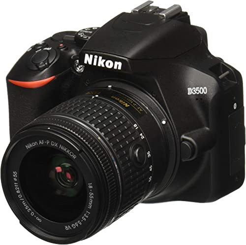 Nikon D3500 W/AF-P DX Nikkor 18-55mm f/3.5-5.6G VR with 16GB Memory Card and Carry Case (Black) product image
