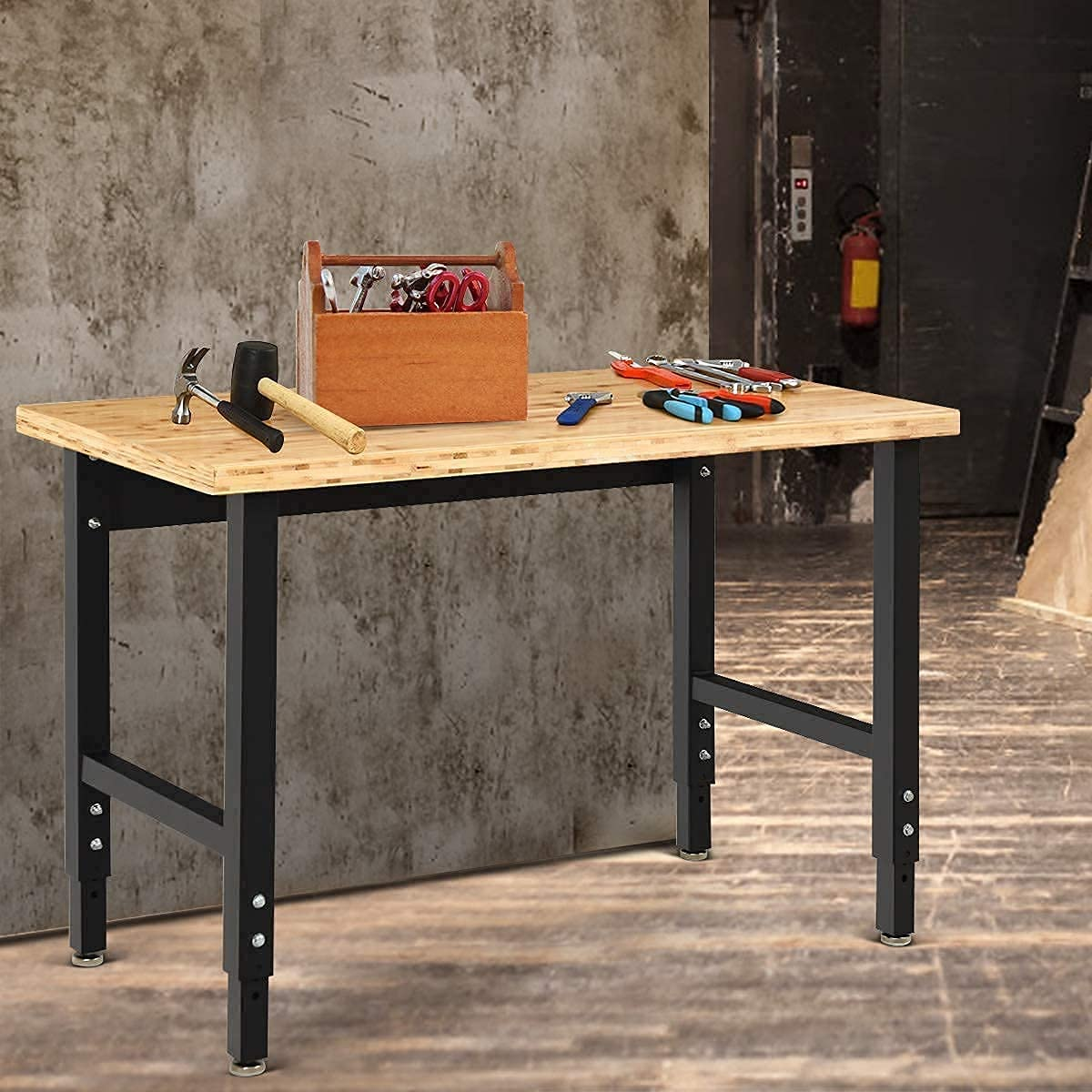 """Mayjooy 48"""" x 24"""" Today's only Adjustable 2021new shipping free Support Workbench 1500lb"""