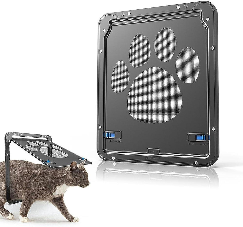 Biowow Cat Doors for Interior Doors, 8  W 10.2  H Net Cat Door for Window Pet Door Screen Doggie Door for Kitten & Small Dog with Circumference Shorter Than 25.12
