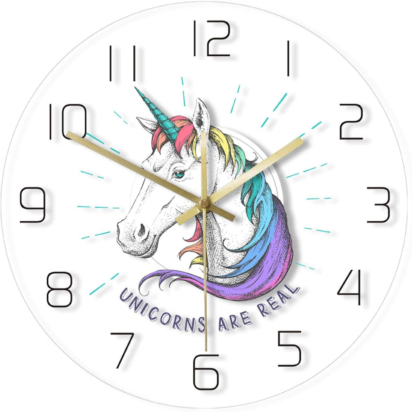 Industry No. 1 Wall Clock Unicorns are Real Rainbow Magical Ranking TOP14 Unicorn Transparent