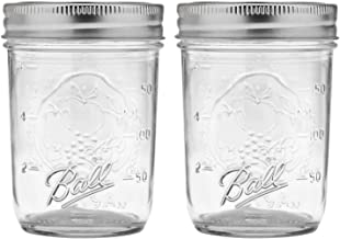 product image for Ball Regular Mouth Mason Jars with Lids & Bands, Half Pint, 8-oz (2-Pack)