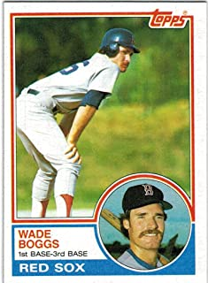 1983 Topps Boston Red Sox Team Set with 2 Carl Yastrzemski & Wade Boggs RC - 30 MLB Cards