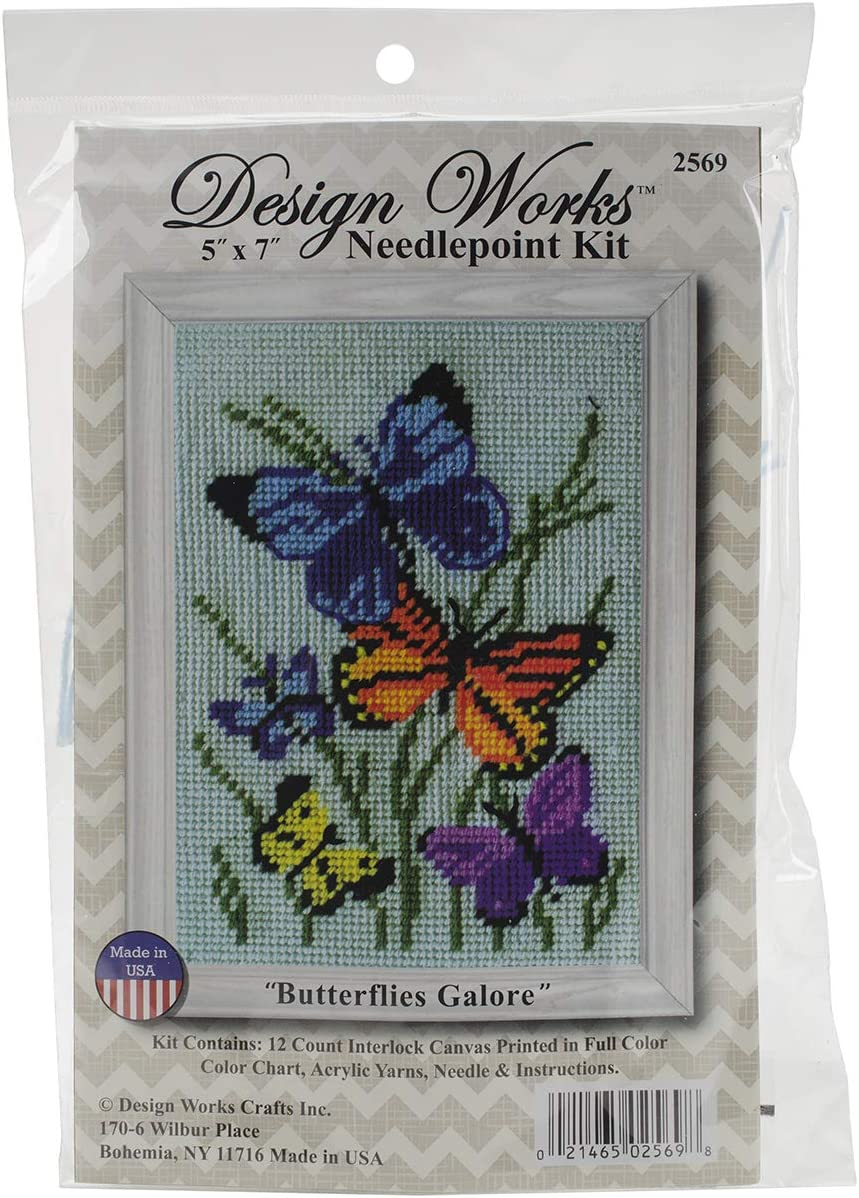 Design Works Colorful Cats Needlepoint Kit