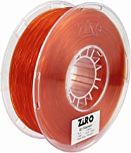 ZIRO 3D Printer Filament PLA 1.75 1KG(2.2lbs), Dimensional Accuracy +/- 0.05mm, Translucent red