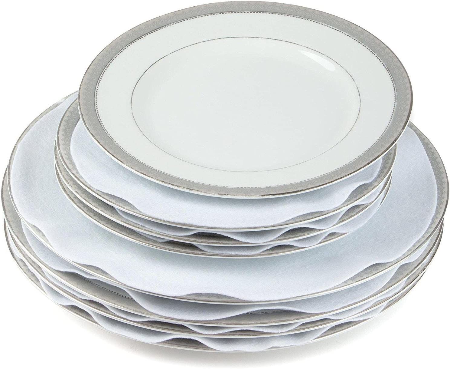 Oakland Mall Felt Plate China Storage Dividers Large Protectors 2021new shipping free shipping T White Extra